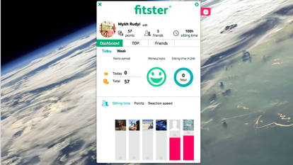 Fitster - Desktop Health Saver